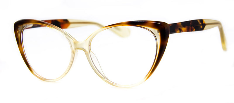 Yellow - Optical Quality Hip Cat Eye Reading Glasses