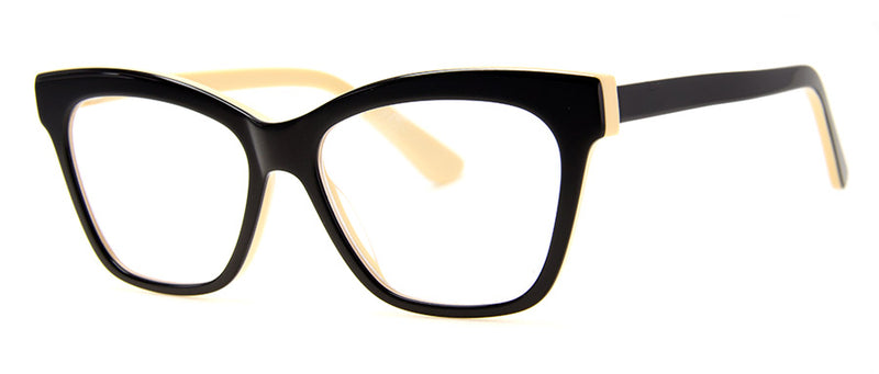 Black/Cream - RX-able | Optical Quality Cat Eye Womens Reading Glasses