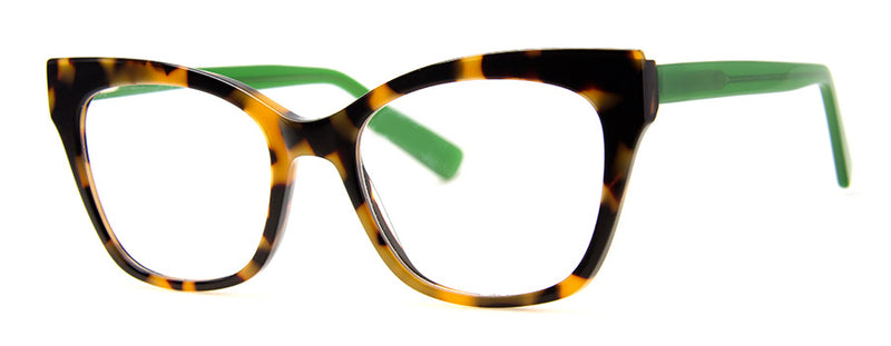 Tortoise/Green - RX-able | Optical Quality Cat Eye Womens Reading Glasses