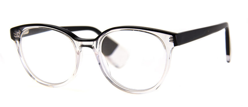 Black/Crystal - Optical Quality Acetate Reading Glasses