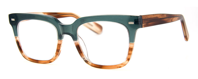 Teal - Optical Quality Rectangular Reading Glasses