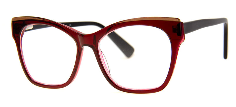 Dark Red – Optical Quality Cute Cat Eye Reading Glasses for Women