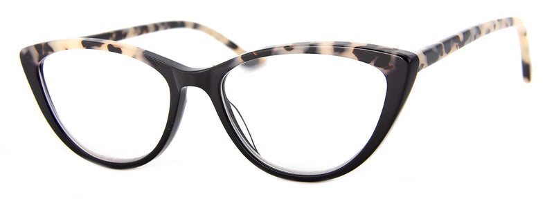 Leopard/Black - Optical Quality | Hip Cat Eye Reading Glasses