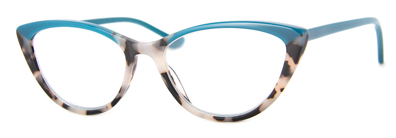 Teal - Optical Quality | Hip Cat Eye Reading Glasses