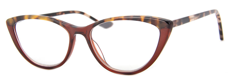 Tortoise/Brown - Optical Quality | Hip Cat Eye Reading Glasses