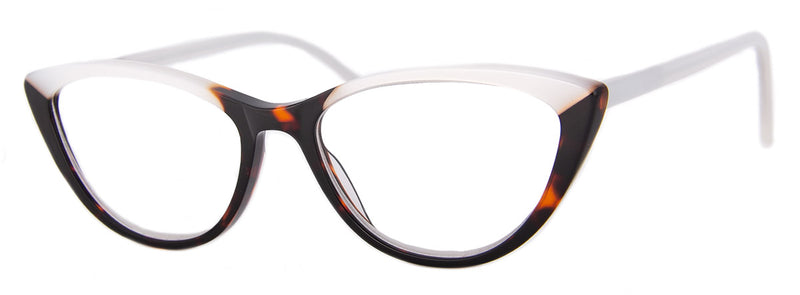 White/Tortoise - Optical Quality | Hip Cat Eye Reading Glasses
