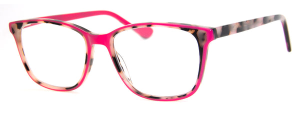 Leopard/Pink - Funky, Two-Tone, Rectangular Reading Glasses