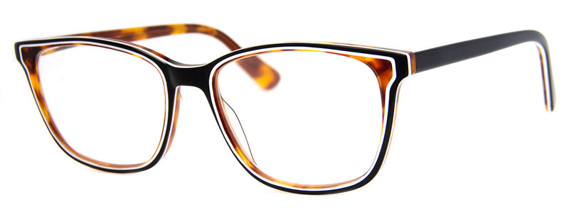 Tortoise/Black - Mens, Womens, Hip, Stylish, Rectangular, Optical Quality Reading Glasses