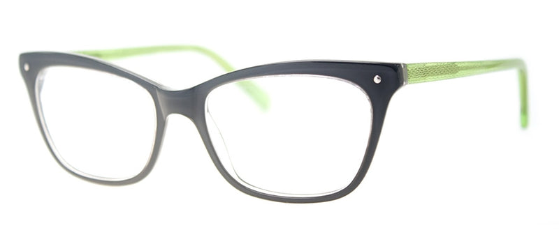 Dark Gray/Green - RX-able | Optical Quality Cat Eye Womens Reading Glasses