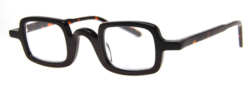 Black/Tortoise - Classic, Hip Rectangular Reading Glasses