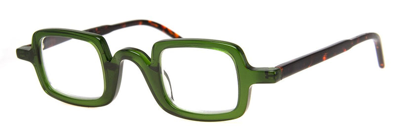 Olive/Tortoise - Classic, Hip Rectangular Reading Glasses