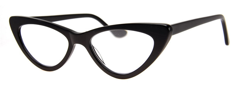 Black - Vintage Inspired Cat Eye Reading Glasses