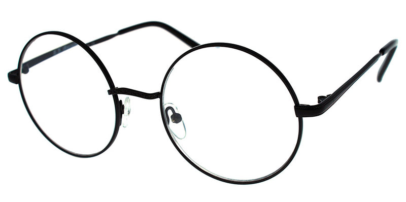Black Round Metal Frame Reading Glasses