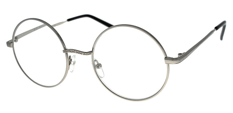 Silver Round Metal Frame Reading Glasses