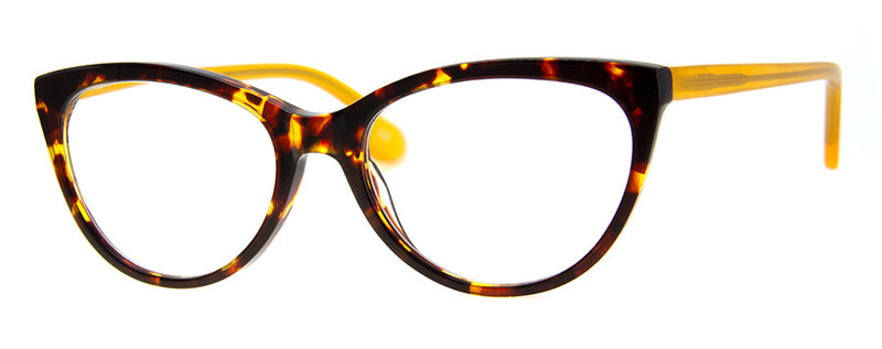 Tortoise/Yellow - RX-able | Optical Quality Cat Eye Womens Reading Glasses