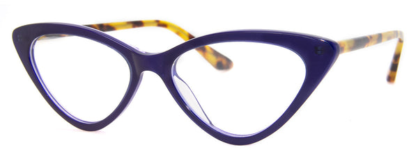 Blue/Tortoise - Hip Cat Eye Reading Glasses