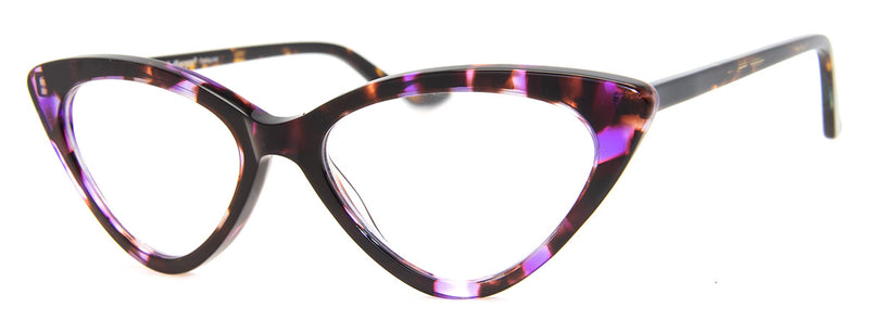 Purple - Cute Cat Eye Reading Glasses for Women