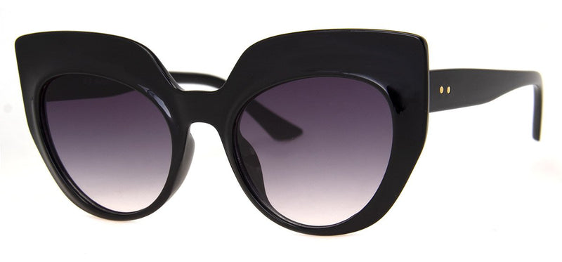 Black - Large, Funky Cat Eye Sunglasses for Women