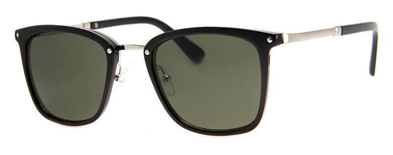 Black - Classic, Vintage, Rectangular Sunglasses