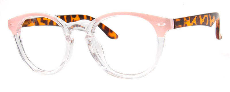 Tortoise/Pink - Mens, New, Popular, Round, Vintage, Womens, Reading Glasses