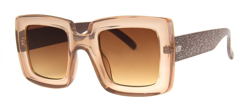 Brown - Oversized, Cute Girls Sunglasses