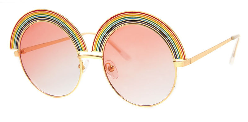 Gold - Rainbow Sunglasses for Women