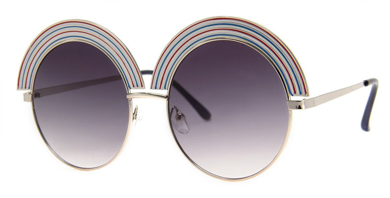 Silver - Rainbow Sunglasses for Women