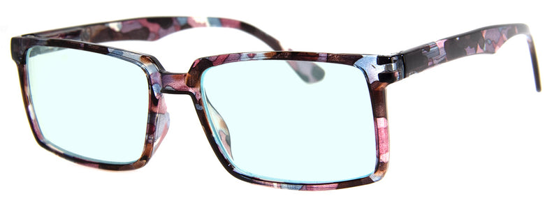 Purple Multi - Mens, Womens, Rectangular, Computer Reading Glasses