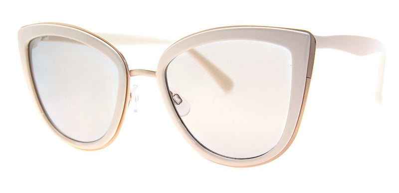 Cream - Oversized, Cat Eye Sunglasses for Women