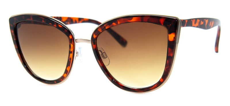 Tortoise - Oversized, Cat Eye Sunglasses for Women