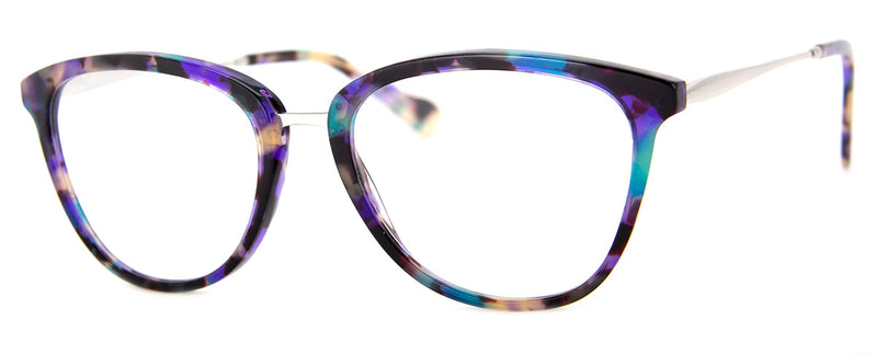 Teal Multi – Stylish cat Eye Reading Glasses for Women