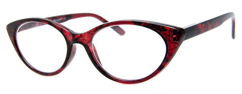 Red - Glitter Embedded Cat Eye Reading Glasses