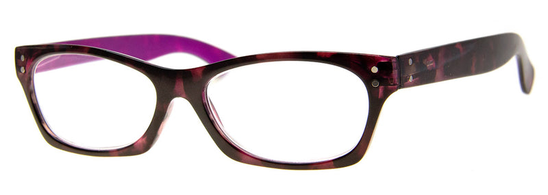 Tortoise/Purple - Cute, Small Cat Eye Reading Glasses