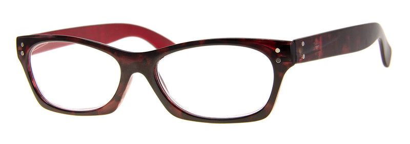 Tortoise/Red - Cute, Small Cat Eye Reading Glasses