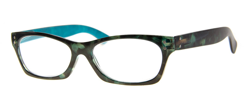 Tortoise/Turquoise - Cateye, Vintage, Reading Glasses for Women