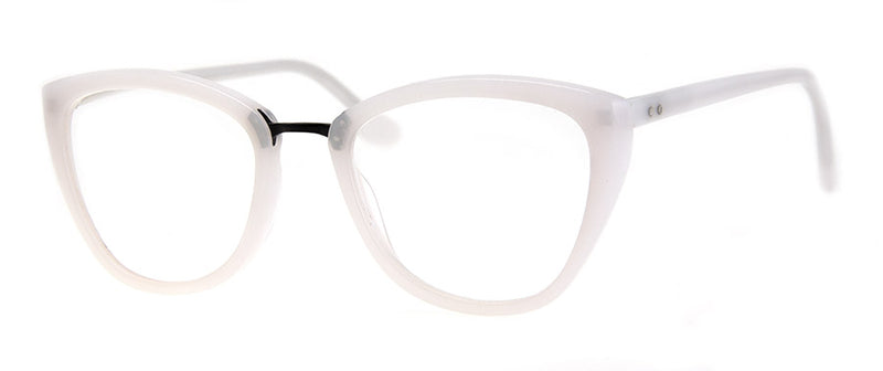 White Cat Eye Reading Glasses
