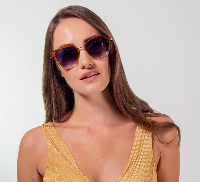 Vintage-Inspired Large Cat Eye Sunglasses