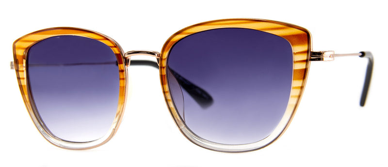 Amber - Vintage-Inspired Large Cat Eye Sunglasses