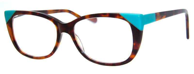Tortoise/Teal – Cute Cat Eye Reading Glasses