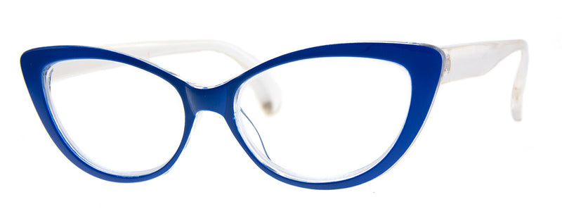 Blue - Vintage-Inspired Cat Eye Reading Glasses for Women