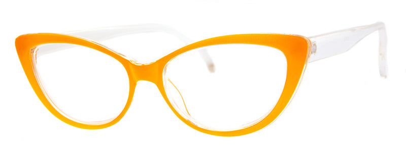 Orange – Cute, Colorful, Designer Cat Eye Reading Glasses