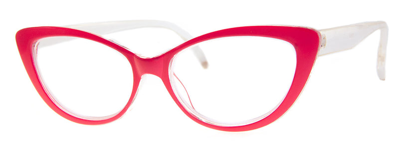 Pink - Vintage-Inspired Cat Eye Reading Glasses for Women