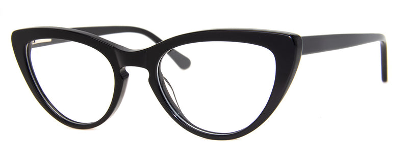 Black - Cute designer cat eye reading glasses for women
