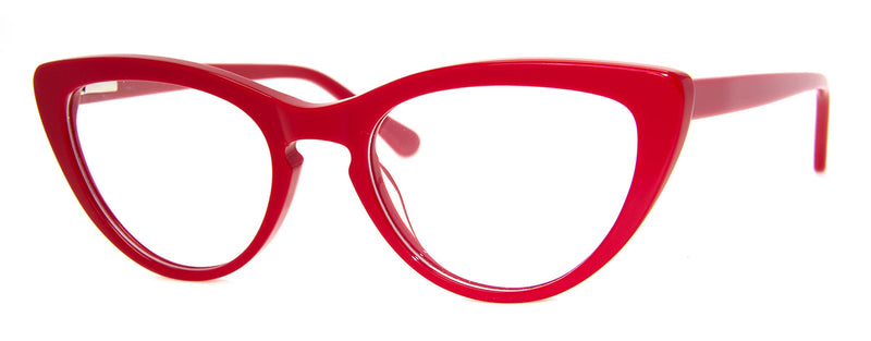 Red - Hip, Cat Eye Reading Glasses