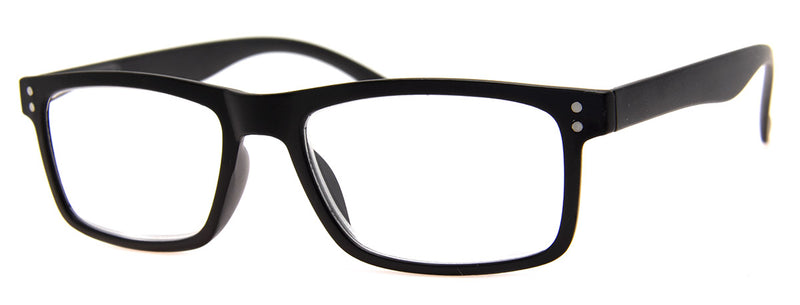Black - Mens, Womens, Hip, Stylish, Rectangular, Vintage Reading Glasses