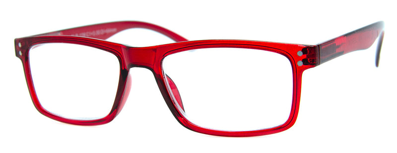 Red - Mens, Womens, Hip, Stylish, Rectangular, Vintage Reading Glasses