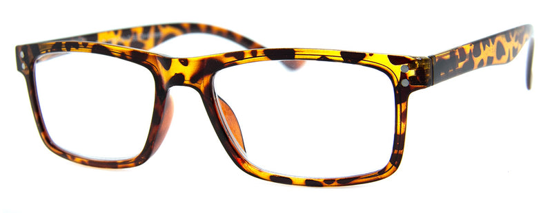 Tortoise - Mens, Womens, Hip, Stylish, Rectangular, Vintage Reading Glasses
