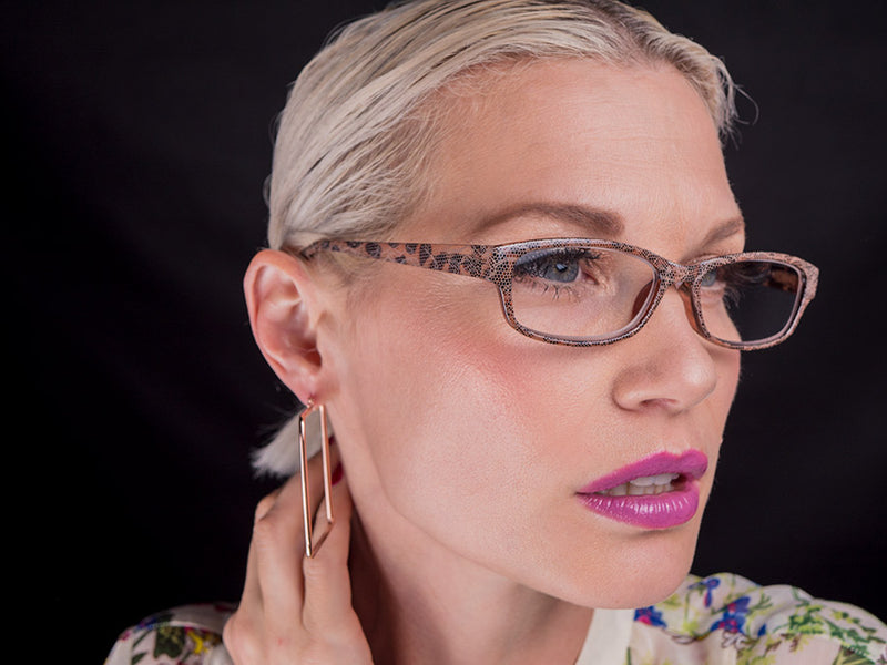 Cute Snake Skin Pattern Reading Glasses