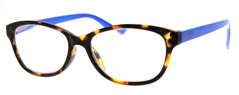 Tortoise/Blue - Rx-able | Optical Quality | Cute Reading Glasses