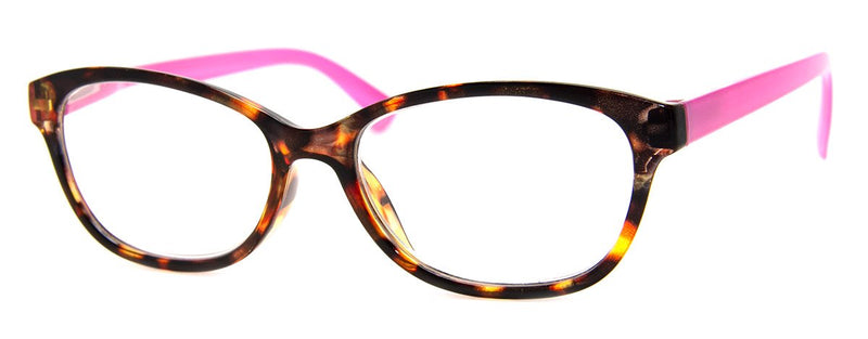 Tortoise/Pink - Rx-able | Optical Quality | Cute Reading Glasses